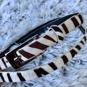 Betsey Johnson Zebra Print Belt
